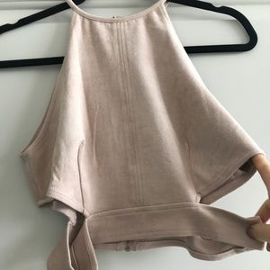 WORN ONCE: Missguided Suede high neck top